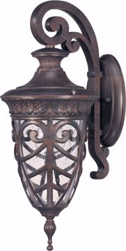 Picture of NUVO Lighting 60/2056 Aston - 1 Light Small Wall Lantern Arm Down with Seeded Glass