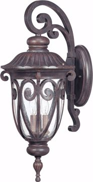 Picture of NUVO Lighting 60/2062 Corniche - 3 Light Large Wall Lantern Arm Down with Seeded Glass