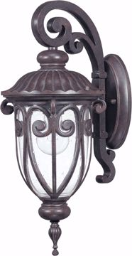Picture of NUVO Lighting 60/2066 Corniche - 1 Light Small Wall Lantern Arm Down with Seeded Glass