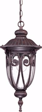Picture of NUVO Lighting 60/2068 Corniche - 1 Light Hanging Lantern with Seeded Glass