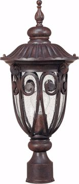 Picture of NUVO Lighting 60/2069 Corniche - 1 Light Mid-Size Post Lantern with Seeded Glass