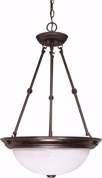 "Picture of NUVO Lighting 60/211 3 Light - 15"" - Pendant - Alabaster Glass"
