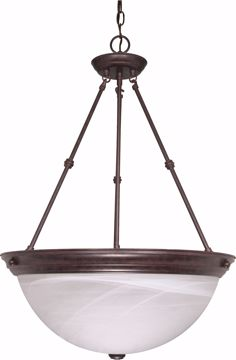 "Picture of NUVO Lighting 60/212 3 Light - 20"" - Pendant - Alabaster Glass"