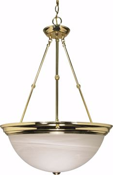 "Picture of NUVO Lighting 60/220 3 Light - 20"" - Pendant - Alabaster Glass"