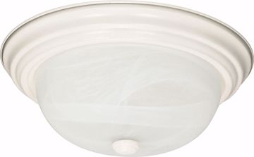 "Picture of NUVO Lighting 60/222 2 Light - 13"" - Flush Mount - Alabaster Glass"