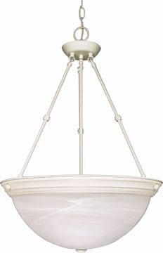 "Picture of NUVO Lighting 60/228 3 Light - 20"" - Pendant - Alabaster Glass"