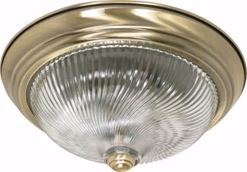 "Picture of NUVO Lighting 60/230 2 Light - 13"" - Flush Mount - Clear Swirl Glass"