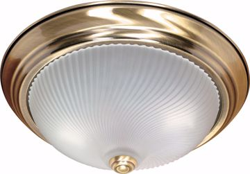 "Picture of NUVO Lighting 60/238 2 Light - 13"" - Flush Mount - Frosted Swirl Glass"