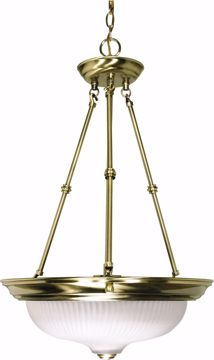 """Picture of NUVO Lighting 60/243 3 Light - 15"""" - Pendant - Frosted Swirl Glass"""