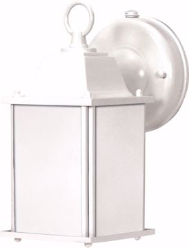Picture of NUVO Lighting 60/2527 Cube Lantern ES - 1 Light Wall Lantern with Frosted Beveled Glass - (Lamp Included)