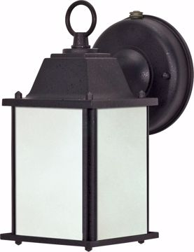 Picture of NUVO Lighting 60/2529 Cube Lantern ES - 1 Light Wall Lantern with Frosted Beveled Glass - (Lamp Included)