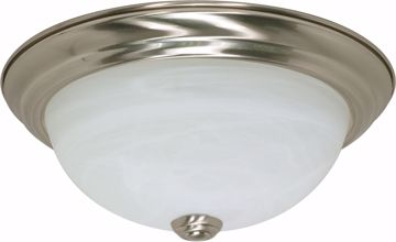 "Picture of NUVO Lighting 60/2621 2 Light ES 11"" Flush Fixture with Alabaster Glass - (2) 13w GU24 Lamps Included"