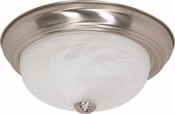 "Picture of NUVO Lighting 60/2622 2 Light ES 13"" Flush Fixture with Alabaster Glass - (2) 13w GU24 Lamps Included"