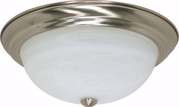 "Picture of NUVO Lighting 60/2623 3 Light ES 15"" Flush Fixture with Alabaster Glass - (3) 13w GU24 Lamps Included"