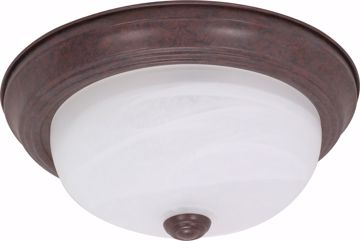 "Picture of NUVO Lighting 60/2625 2 Light ES 13"" Flush Fixture with Alabaster Glass - (2) 13w GU24 Lamps Included"