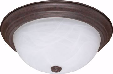 "Picture of NUVO Lighting 60/2627 3 Light ES 15"" Flush Fixture with Alabaster Glass - (3) 13w GU24 Lamps Included"