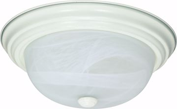 "Picture of NUVO Lighting 60/2628 2 Light ES 11"" Flush Fixture with Alabaster Glass - (2) 13w GU24 Lamps Included"