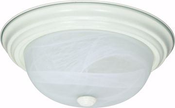 "Picture of NUVO Lighting 60/2629 2 Light ES 13"" Flush Fixture with Alabaster Glass - (2) 13w GU24 Lamps Included"