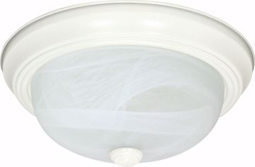 "Picture of NUVO Lighting 60/2631 3 Light ES 15"" Flush Fixture with Alabaster Glass - (3) 13w GU24 Lamps Included"