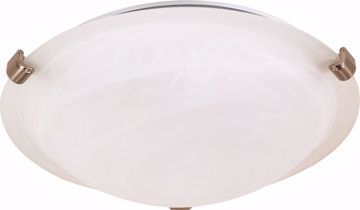 "Picture of NUVO Lighting 60/270 1 Light - 12"" - Flush Mount - Tri-Clip with Alabaster Glass"