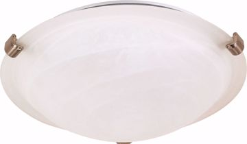 "Picture of NUVO Lighting 60/271 2 Light - 16"" - Flush Mount - Tri-Clip with Alabaster Glass"