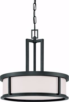 Picture of NUVO Lighting 60/2978 Odeon - 4 Light Pendant with Satin White Glass