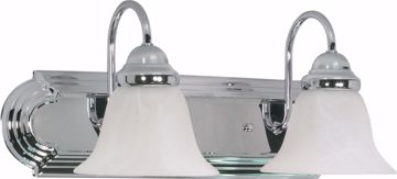 "Picture of NUVO Lighting 60/316 Ballerina - 2 Light - 18"" - Vanity - with Alabaster Glass Bell Shades"