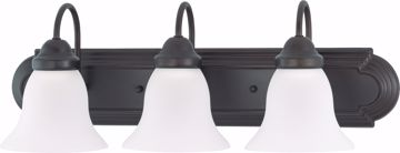 "Picture of NUVO Lighting 60/3162 Ballerina - 3 Light 24"" Vanity with Frosted White Glass"