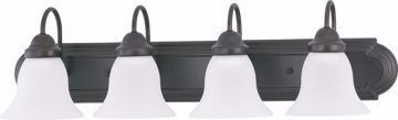 "Picture of NUVO Lighting 60/3163 Ballerina - 4 Light 30"" Vanity with Frosted White Glass"