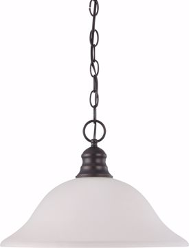 "Picture of NUVO Lighting 60/3173 1 Light 16"" Pendant with Frosted White Glass"