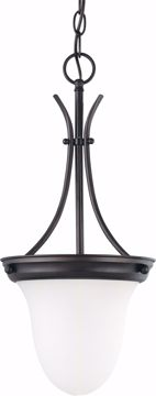 """Picture of NUVO Lighting 60/3174 1 Light 10"""" Pendant with Frosted White Glass"""