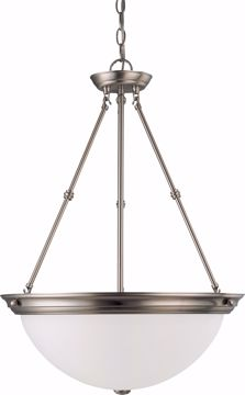"Picture of NUVO Lighting 60/3248 3 Light 20"" Pendant with Frosted White Glass"