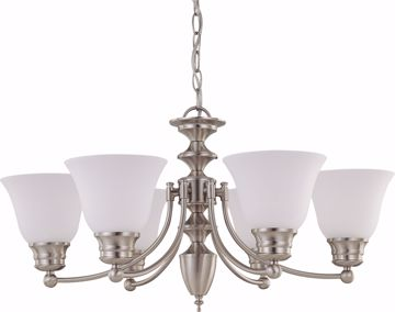 "Picture of NUVO Lighting 60/3255 Empire - 6 Light 26"" Chandelier with Frosted White Glass"