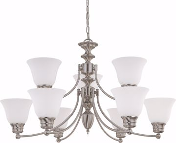 "Picture of NUVO Lighting 60/3256 Empire - 9 Light 32"" Chandelier with Frosted White Glass"