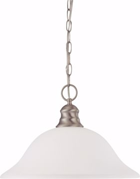"Picture of NUVO Lighting 60/3258 1 Light 16"" Pendant with Frosted White Glass"