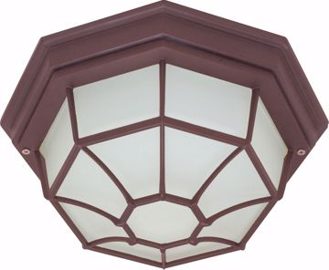 "Picture of NUVO Lighting 60/3451 1 Light - 12"" - Ceiling Spider Cage Fixture - Die Cast; Glass Lens; Color retail packaging"