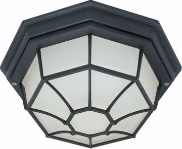 "Picture of NUVO Lighting 60/3452 1 Light - 12"" - Ceiling Spider Cage Fixture - Die Cast; Glass Lens; Color retail packaging"