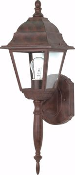 "Picture of NUVO Lighting 60/3454 Briton - 1 Light - 18"" - Wall Lantern - with Clear Seed Glass; Color retail packaging"