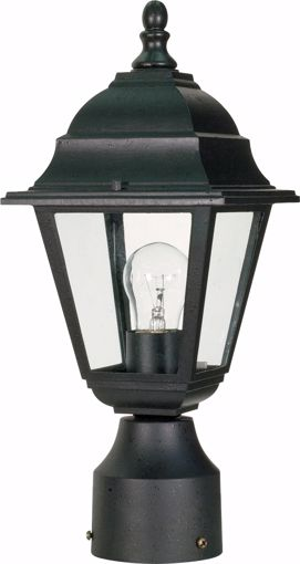 "Picture of NUVO Lighting 60/3456 Briton - 1 Light - 14"" - Post Lantern - with Clear Glass; Color retail packaging"