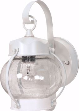 "Picture of NUVO Lighting 60/3457 1 Light - 11"" - Wall Lantern - Onion Lantern with Clear Seed Glass; Color retail packaging"
