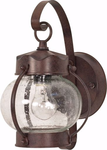 """Picture of NUVO Lighting 60/3458 1 Light - 11"""" - Wall Lantern - Onion Lantern with Clear Seed Glass; Color retail packaging"""