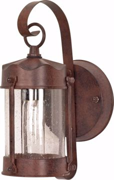 "Picture of NUVO Lighting 60/3461 1 Light - 11"" - Wall Lantern - Piper Lantern with Clear Seed Glass; Color retail packaging"