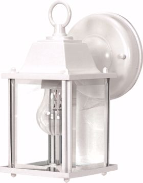 "Picture of NUVO Lighting 60/3463 1 Light - 9"" - Wall Lantern - Cube Lantern with Clear Beveled Glass; Color retail packaging"