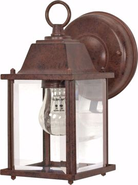 "Picture of NUVO Lighting 60/3464 1 Light - 9"" - Wall Lantern - Cube Lantern with Clear Beveled Glass; Color retail packaging"