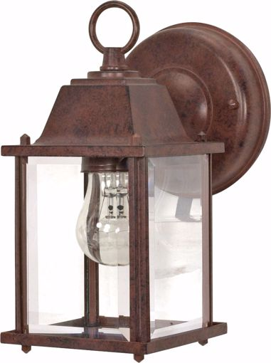 """Picture of NUVO Lighting 60/3464 1 Light - 9"""" - Wall Lantern - Cube Lantern with Clear Beveled Glass; Color retail packaging"""
