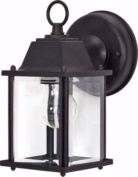 "Picture of NUVO Lighting 60/3465 1 Light - 9"" - Wall Lantern - Cube Lantern with Clear Beveled Glass; Color retail packaging"