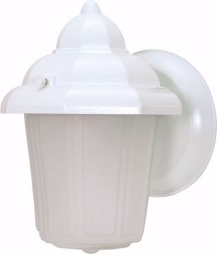 "Picture of NUVO Lighting 60/3466 1 Light - 9"" - Wall Lantern - Hood Lantern with Satin Frosted Glass; Color retail packaging"