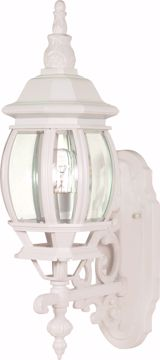 "Picture of NUVO Lighting 60/3467 Central Park - 1 Light - 20"" - Wall Lantern - with Clear Beveled Glass; Color retail packaging"
