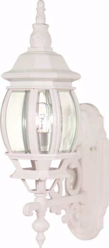 """Picture of NUVO Lighting 60/3467 Central Park - 1 Light - 20"""" - Wall Lantern - with Clear Beveled Glass; Color retail packaging"""
