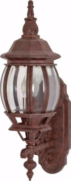 "Picture of NUVO Lighting 60/3468 Central Park - 1 Light - 20"" - Wall Lantern - with Clear Beveled Glass; Color retail packaging"